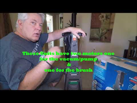 Carpet cleaning  How To & Review Of The Bissell Big Green Professional  Carpet Cleaner 86T3