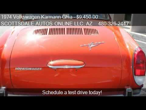 1974 Volkswagen Karmann Ghia Coupe for sale in SCOTTSDALE, A