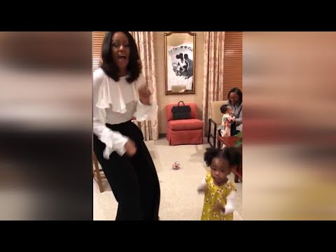 2-Year-Old Pictured in Awe of Michelle Obama Portrait Gets to Dance With Her