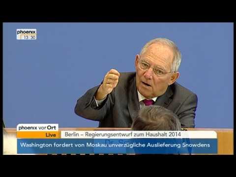 Bundespressekonferenz mit Wolfgang Schäuble am 26.06.2013