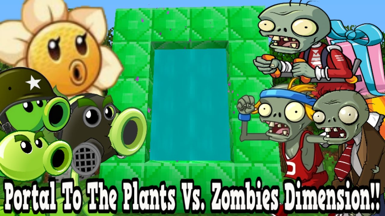 Minecraft how to make a portal to the plants vs zombies for Zombie build