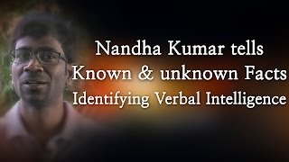 Nandha Kumar tells Known & unknown Facts - Identifying Verbal Intelligence - Red Pix 24x7