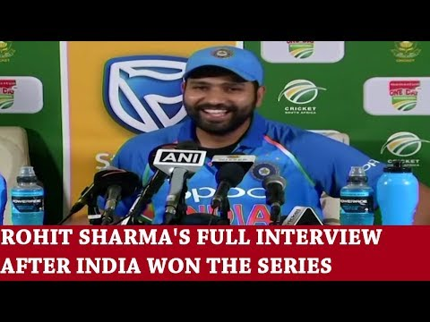 ROHIT SHARMA INTERVIEW AFTER INDIA WON THE SERIES AFTER 25 YEARS
