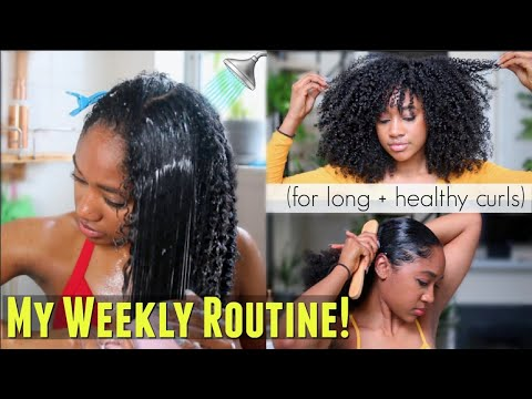 🚿My Weekly Natural Hair Regimen! (How I Refresh + Maintain EVERYDAY Definition)!  Long + Healthy thumbnail