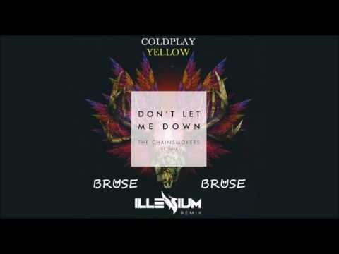 Coldplay Vs The Chainsmokers Yellow W Don T Let Me Down Bruse Rework By Sußre Free Download On Toneden
