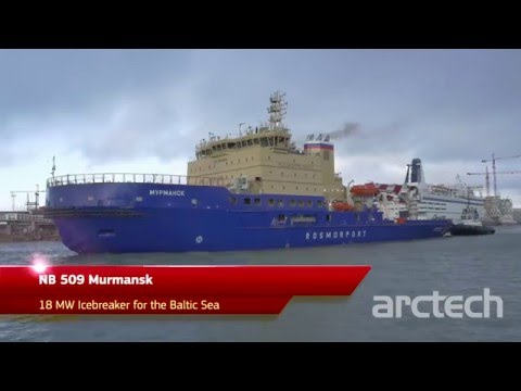 Building of NB 509 Murmansk - 18 MW icebreaker for the Russian Ministry of Transport