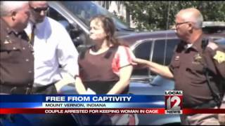 Police: Woman was held captive in cage for%2