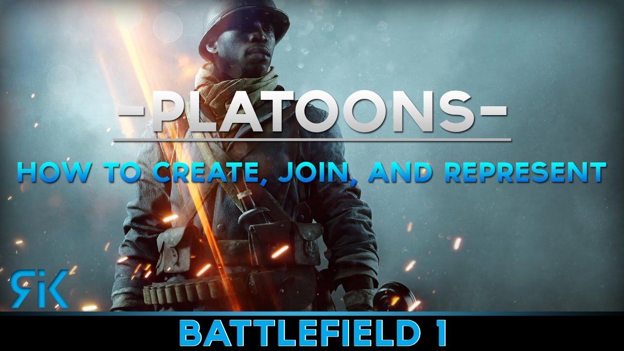 how to create a platoon in bf1