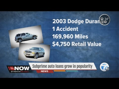 Subprime auto loans grow in popularity