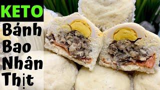 Bánh Bao Truyền Thống KETO/Lowcarb phiên bản nhí | Keto Vietnamese Steamed Pork Buns [dietmukbang13]