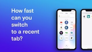 Opera Touch vs Apple Safari - How fast can you switch to a recent tab? | Opera thumbnail