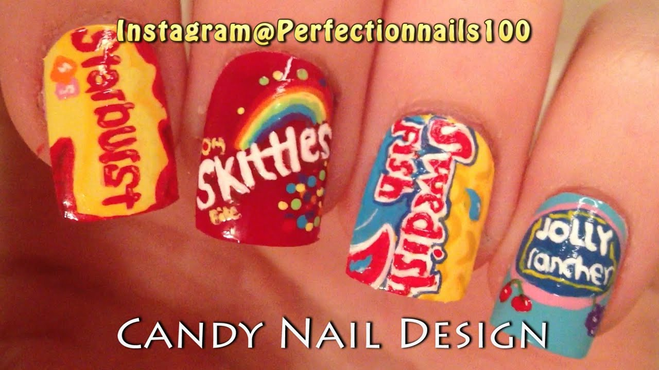 Starburst Candy Nail Design And More 4 Designs In All Freehand