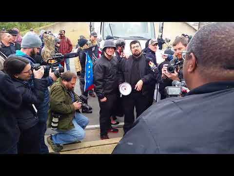 Matthew Heimbach vs Darlye Jenkins. White Lives Matter rally Shelbyville Tn