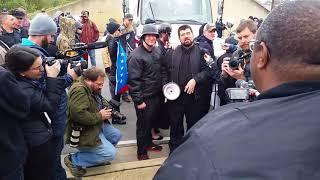 Matthew Heimbach vs Darlye Jenkins. White Lives Matter rally Shelbyville Tn
