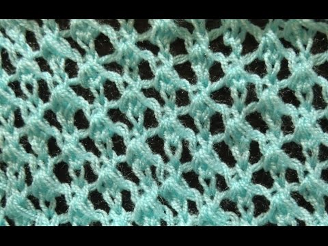 Knit Pattern Easy Lace Stitch Youtube