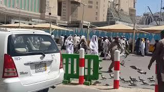 Menikmati pemandangan Indah di luar Masdil Al Haram Makkah.