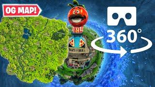 360° OG Season 1 Map in VR    Fortnite Time Machine
