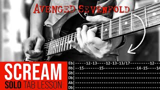 Scream Guitar Solo Lesson - Avenged Sevenfold (with tabs)