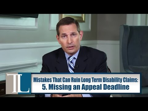 Five Mistakes That Can Ruin Your Long Term Disability Claim – Attorney John V. Tucker explains