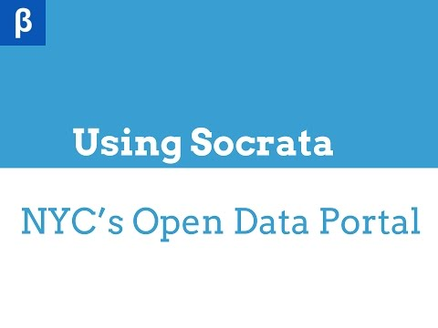 Week 04 - Introduction to NYC's Open Data Portal