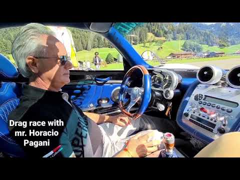 Pagani Zonda F vs. Porsche Carrera GT with Mr. Horacio Pagani drag race
