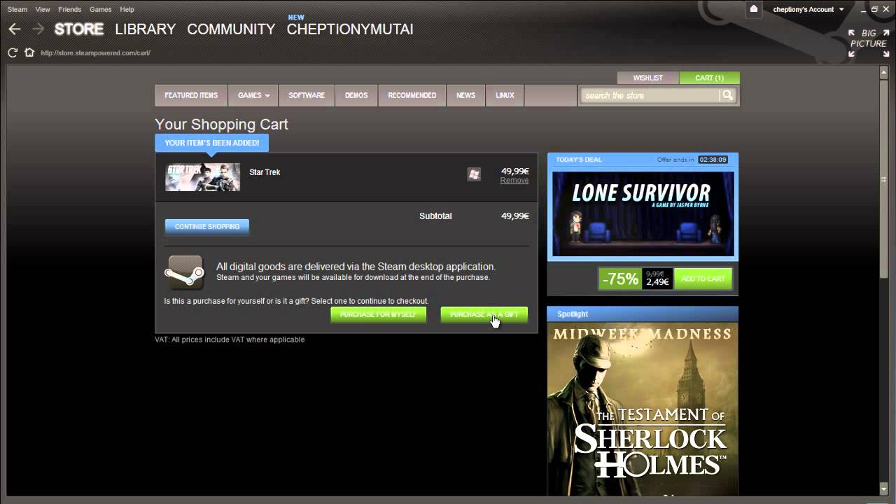 How To Buy Steam Gift  Youtube