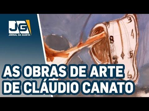 Cláudio Canato transforma paredes em obras de arte