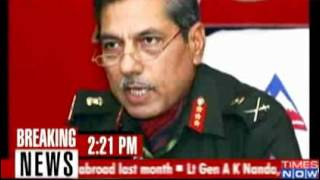 Sex scandal  Lt General forced to resign   Video   The Times of India