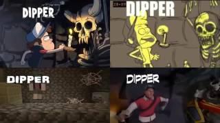 Гравити Фолз, заставка в разных анимациях
