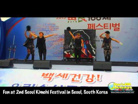 2015 2nd Seoul Kimchi Festival - Funny & Creative Art and Dance Performance | Don's ESL Adventure!