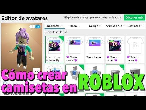 Como Crear Camiseta Gratis En Roblox En Espanol Youtube
