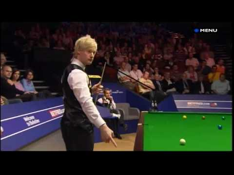 Snooker - Jan Verhaas forgets to respot the black (World Snooker Tournament 2009 - 26.04.09)