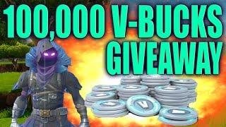 Fortnite - 100,000 V-BUCKS GIVEAWAY AT 1 MILLION SUBSCRIBERS!