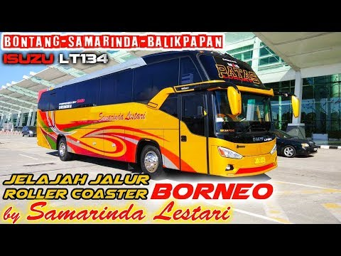 Jalur Kalimantan, DI LUAR DUGAAN! Naik bus Samarinda Lestari, Balikpapan—Bontang. ISUZU LT134