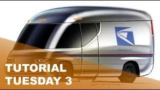 Tutorial Tuesday 3: US Postal Service Truck