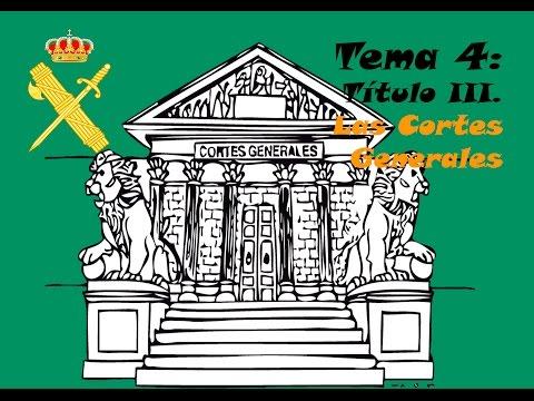 Tema 4. Oposiciones Guardia Civil.  Titulo 3. Las Cortes Generales.