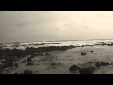 Rowdy surf at Pu