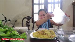 Vlog 316 ll Bánh Xèo Cô Quy Làm Tại Nhà Ngon , Bổ , Rẻ