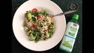 Lunch Is Ready. Garbanzo Bean Tri-pepper Salad. #healthyfood #salad #goodforyou #vegan #vegetarian