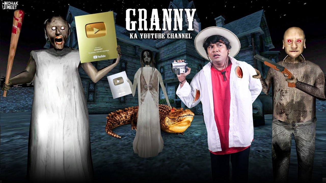GRANNY KA YOUTUBE CHANNEL SHORT FILM : ग्रैनी | HORROR GRANNY : CHAPTER 3 - SLENDRINA || MOHAK MEET