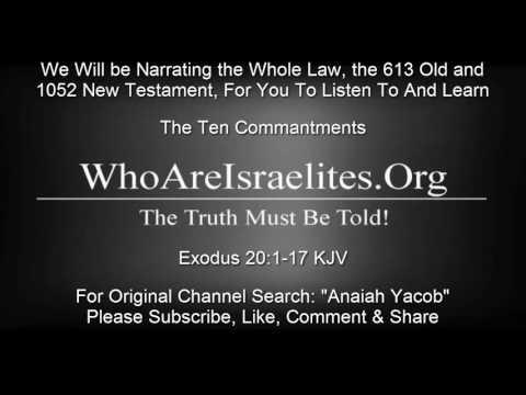 The Ten Commandments Exodus 20:1-17