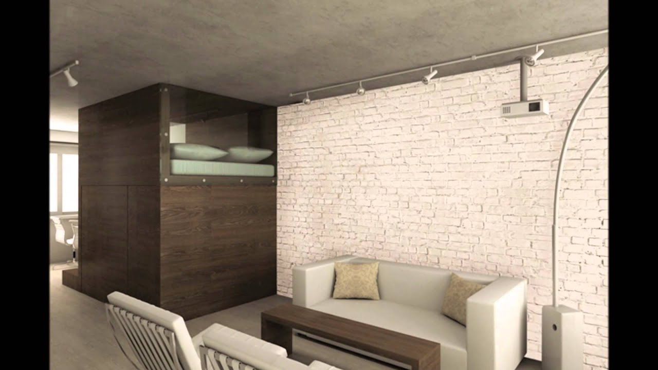 Loft brick wall mural video youtube for Wall to wall wallpaper