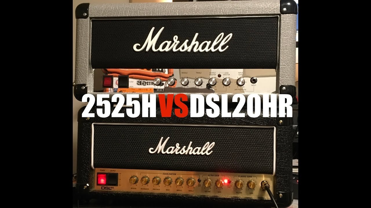 Marshall DSL20HR vs Marshall Mini Silver Jubilee 2525H (in the mix ... 033d120a664af