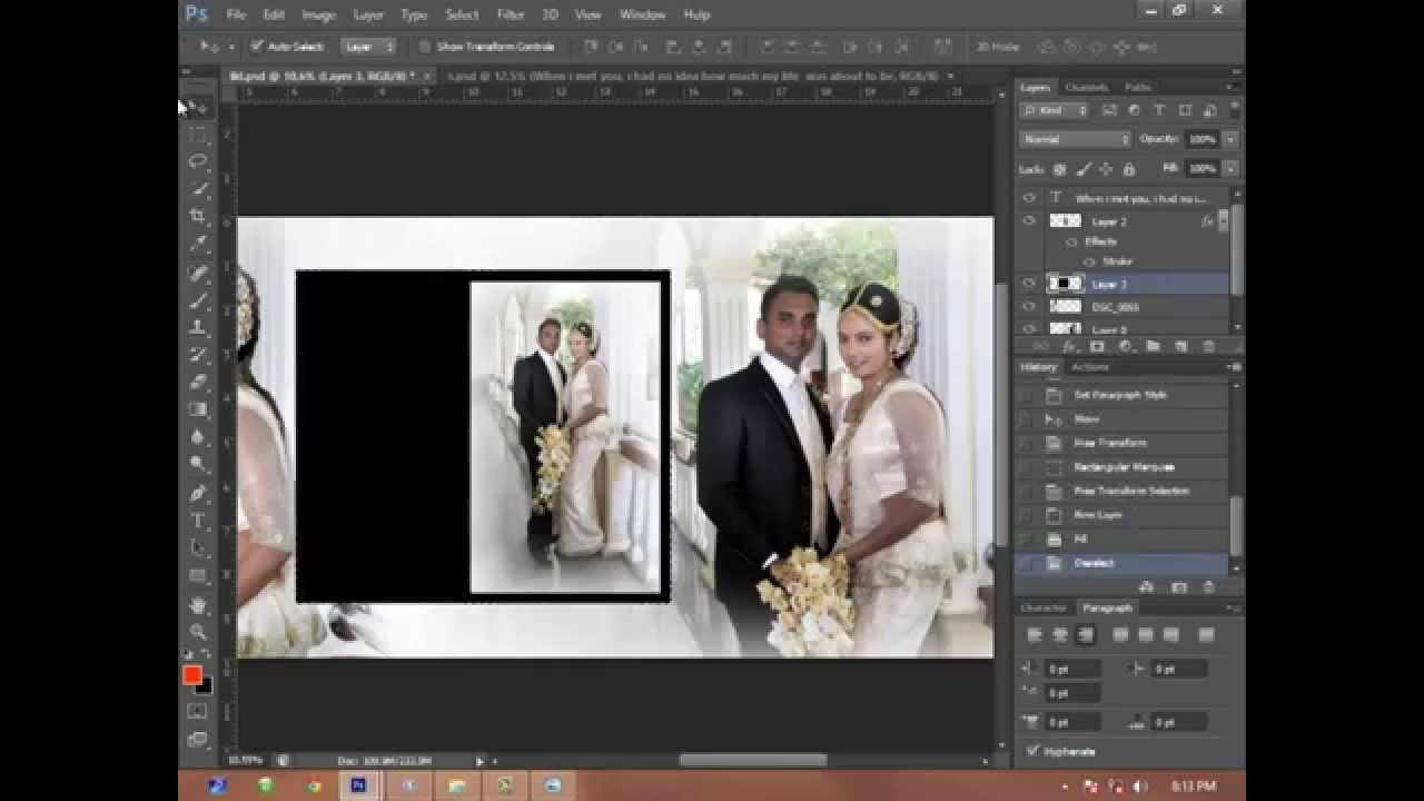 Wedding album page 2 using adobe photoshop cs6 hd tutorial video wedding album page 2 using adobe photoshop cs6 hd tutorial video skyart multimedia soluti youtube baditri Gallery