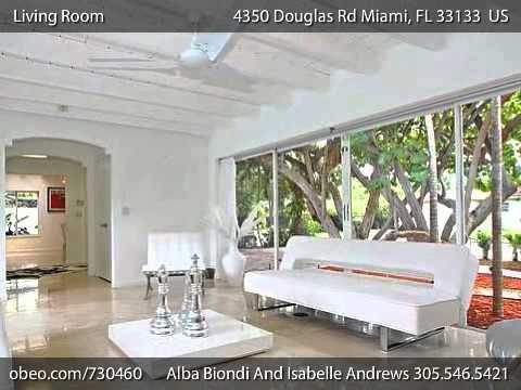maison vendre miami 4350 douglas road coconut grove youtube. Black Bedroom Furniture Sets. Home Design Ideas