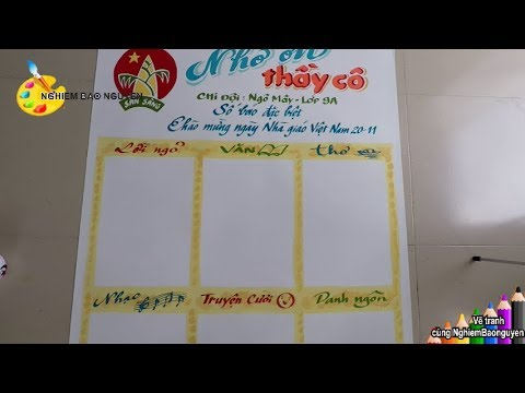 Vẽ báo tường Ngày Nhà giáo Việt Nam 20/11