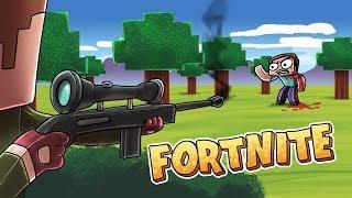 Minecraft Fortnite - ULTIMATE SNIPER LOCKS ON! (Fortnite Battle Royale)