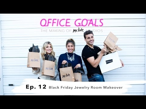 Black Friday Jewelry Room Makeover | Office Goals | Mr Kate | Episode 12