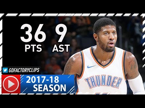 Paul George Full Highlights vs Timberwolves (2017.12.01) - 36 Pts, 9 Ast, 3 Blks, NASTY!
