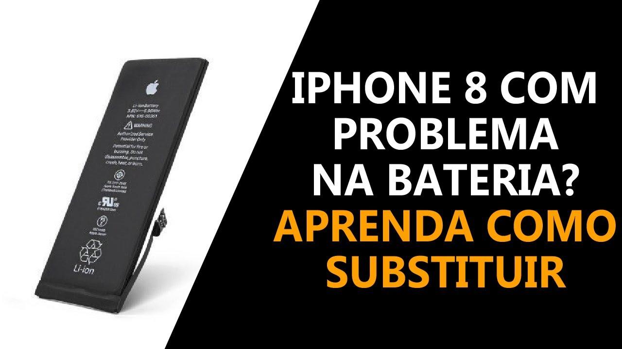 iPhone 8 com problema na bateria? Aprenda como substituir!